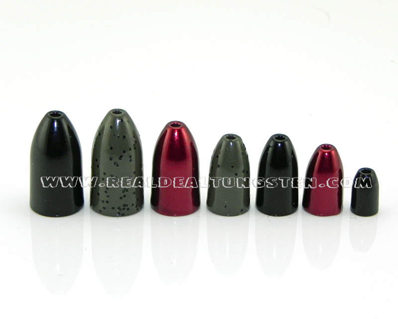 Real deal tungsten tungsten bullet weights for Bullet weight fishing